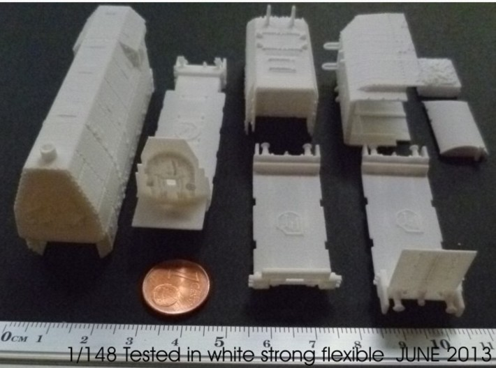 1-148 BR 57 Armored Locomotive For BP-42 3d printed