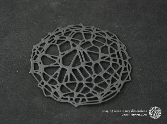 4er Drink Coaster Set - Voronoi #9 (Thin) 3d printed Drink Coaster - Voronoi #9 (black)