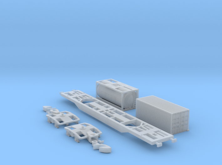 Containertragwagen Sgnss mit 2x 20ft Container 3d printed