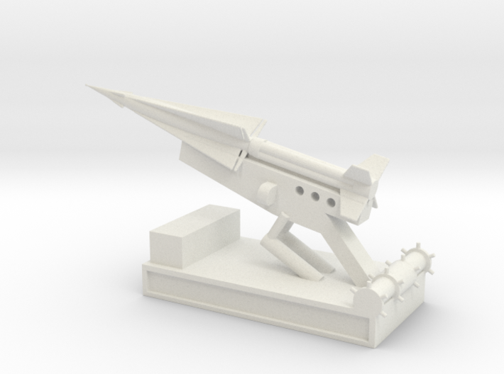 1/144 Scale Nike Launch Pad With Missile 3d printed