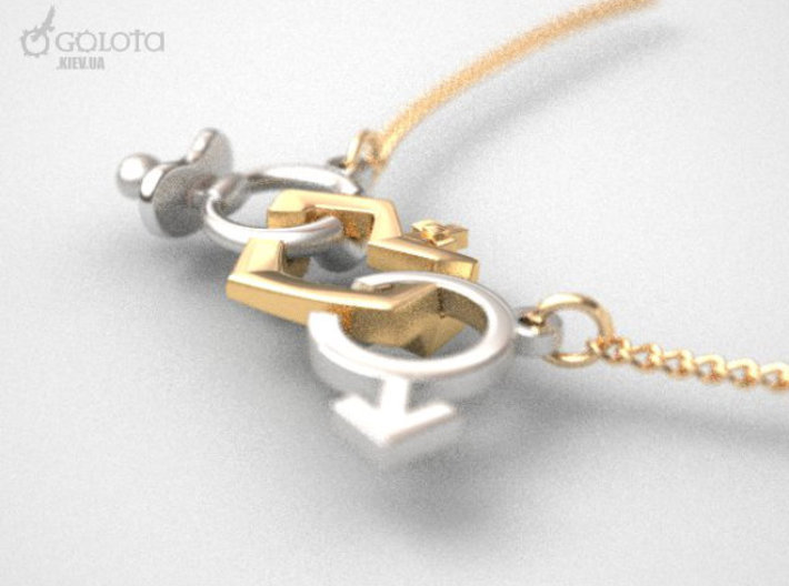 Trio Baby Finder necklace 3d printed