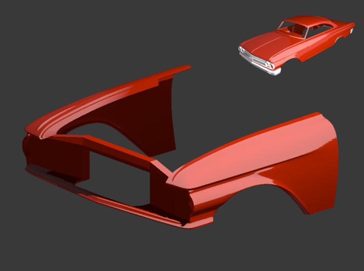 Ford Starliner 1961 Front 1/8 3d printed
