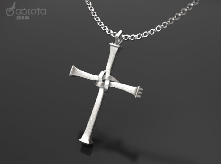 Neil Cross 3d printed Cross from nails