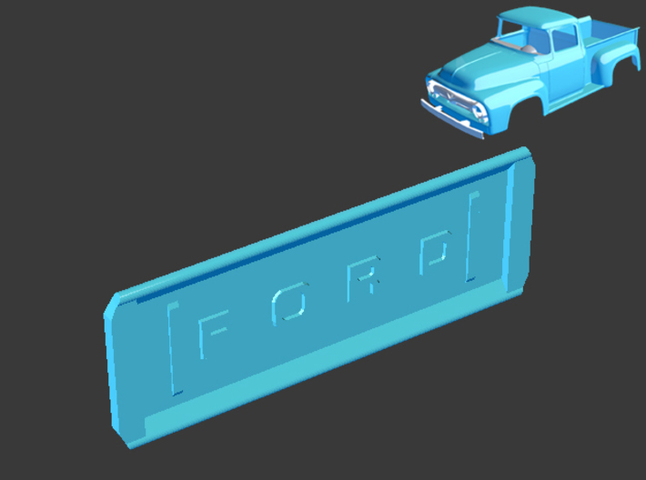 1956 Ford Pickup Tail Gate 1/8 3d printed