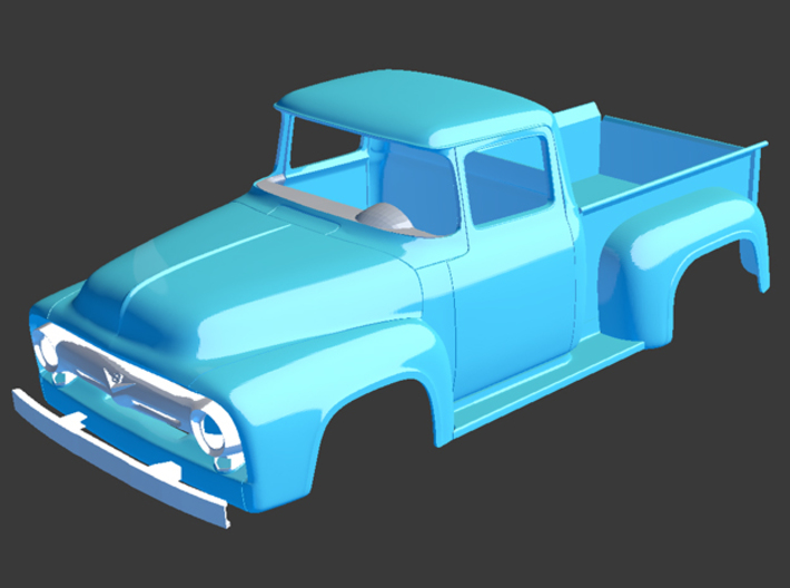 1956 Ford Pickup Dash 1/8 3d printed