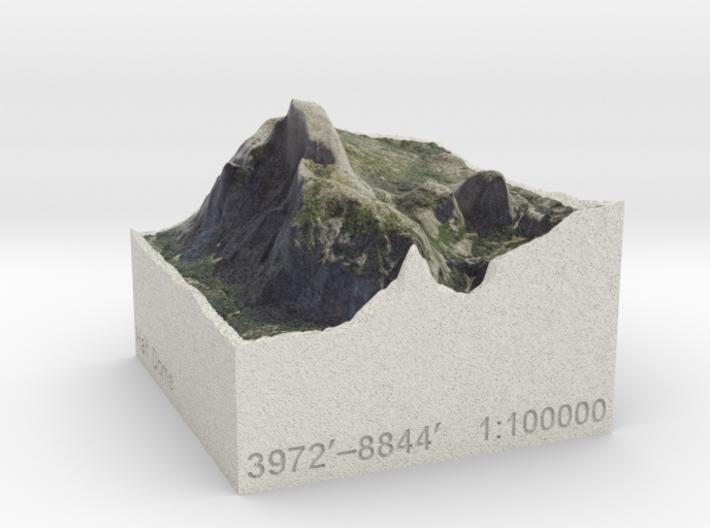 Half Dome, California, USA, 1:100000 Explorer 3d printed