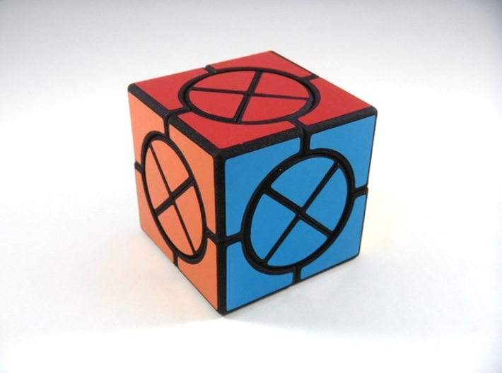 Circle X Cube Puzzle 3d printed View 2