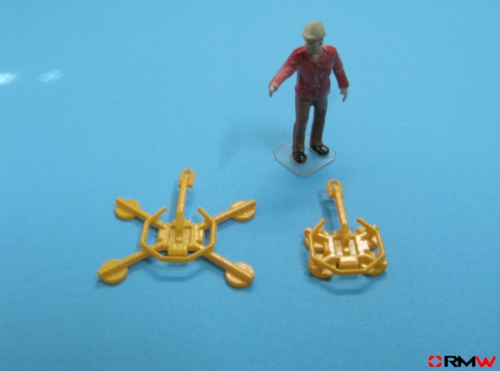 HO/1:87 Glass handler for mini crawler crane 3d printed Painted (figure not included)