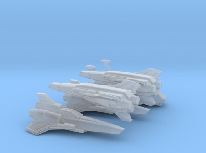 Viper Mk II Wing (Battlestar Galactica), 1/350 3d printed
