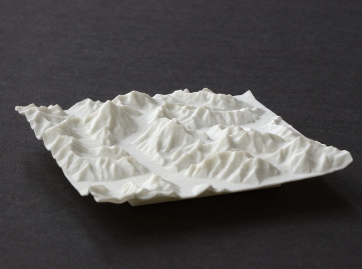 4''/10cm Baltoro Glacier and K2, WSF 3d printed