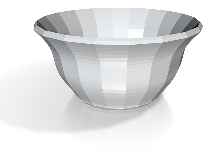 red cap soup bowl 3d printed