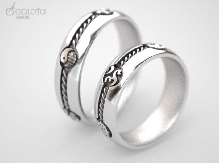 Multy Culty Ring (All Religions) 3d printed Multiculturalism wedding rings