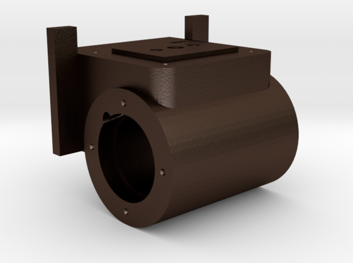 Mogul - Cylinder 2nd Design REV 1 - R .625 Plus 1% 3d printed Baldwin 8-12D Mogul Right Hand Cylinder