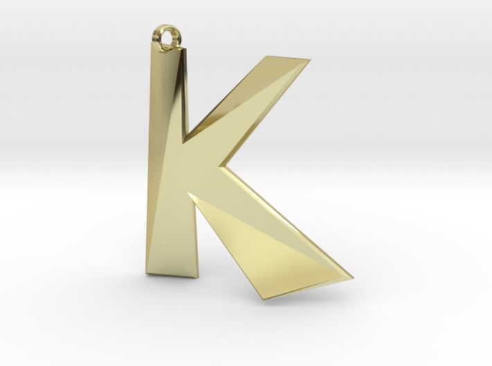 Distorted letter K 3d printed