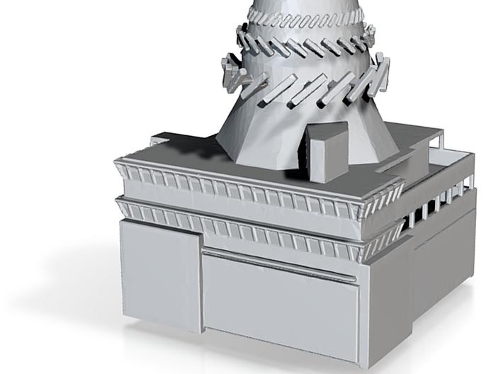 1:1250 Enterprise beehive island 3d printed