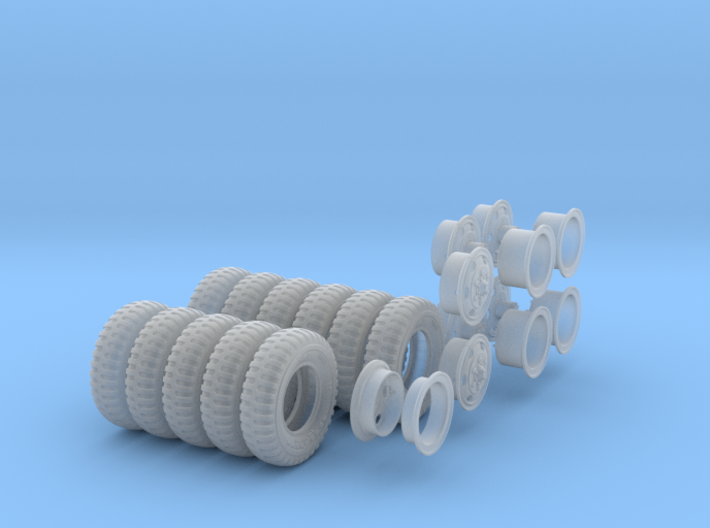 1-24 900x20 M35 Tires And Wheels Set1 3d printed