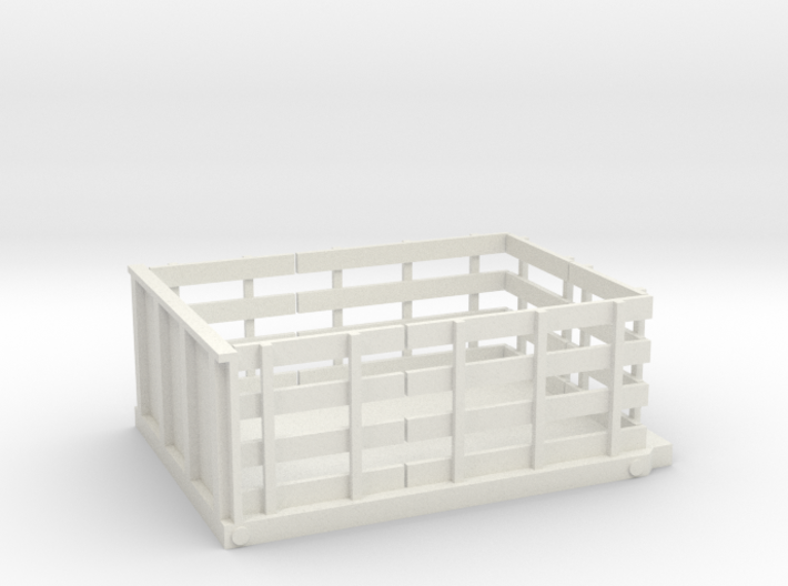 Stake Bed Flat Bed S 1-64 Scale 3d printed