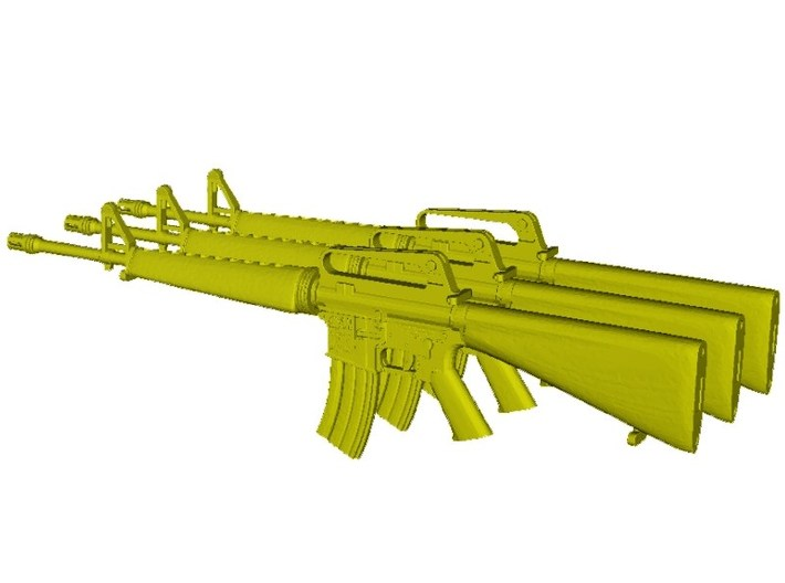 1/15 scale Colt M-16A1 rifles x 3 3d printed