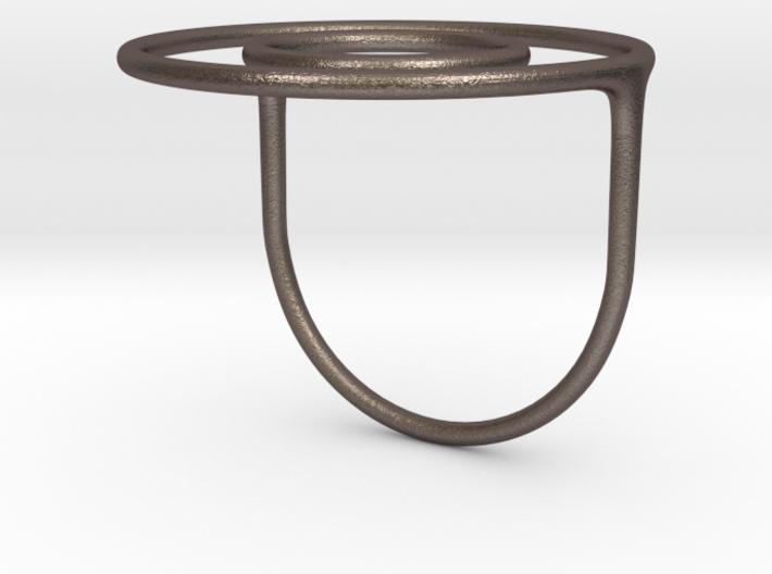 Concentric Circles Ring 3d printed