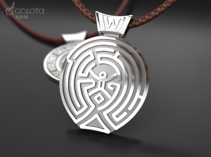 WestWorld maze Pendant 3d printed Westworld full version pendant - link at the bottom