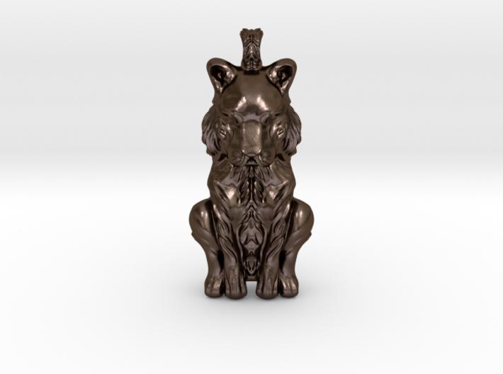 The Sleeping Tiger - Pendant 3d printed
