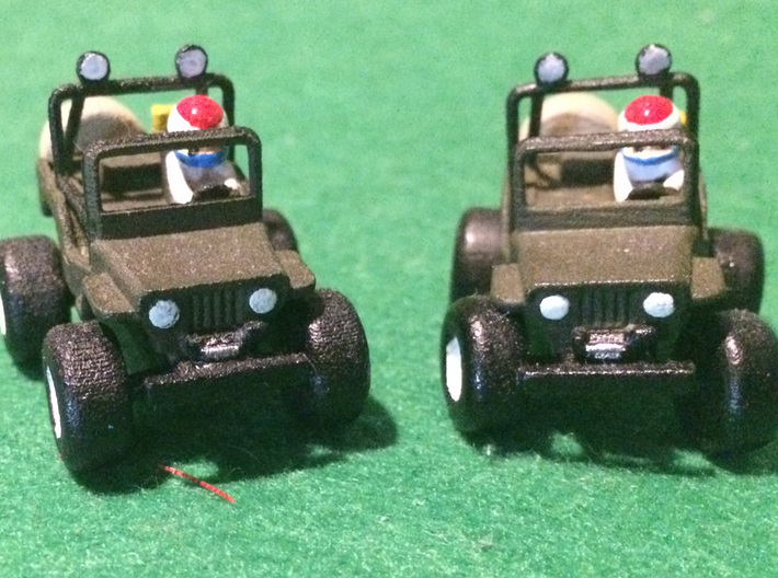 Wild Willy M38 model  3d printed together with the one with the turned wheels
