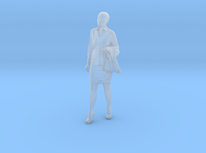 1/24 Standing Female Spectator Business Outfit 3d printed