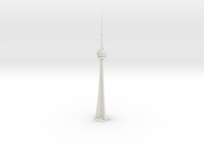 CN Tower (1:2000) 3d printed Assembled model.