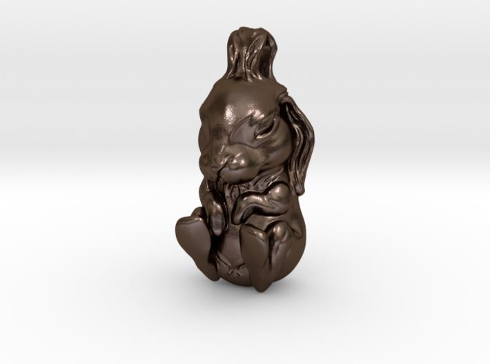 The Sleeping Rabbit Pendant 3d printed