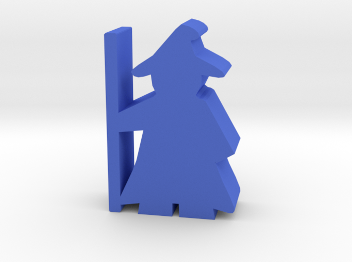 Game Piece, Wizard with cloak and hat 3d printed