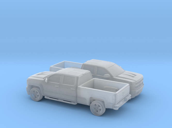 1/160 2X 2016/17 Chevrolet Silverado Long Bed 3d printed