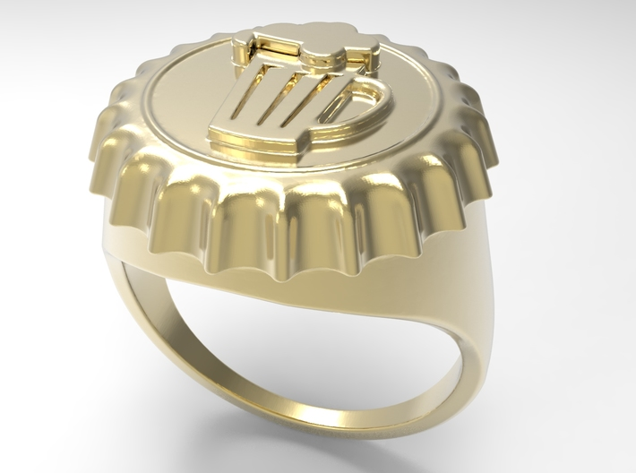 Beer Cap Ring G 3d printed