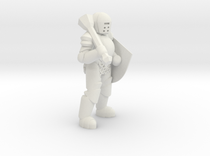 General Paladin Mini (Mace and Shield) 3d printed