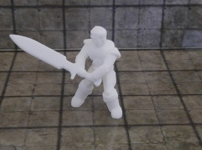 General Fighter Mini (Greatsword) 3d printed