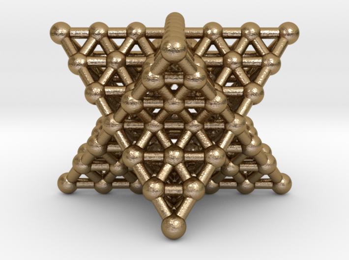 Merkaba Matrix 3 - Surface - Star tetrahedron grid 3d printed
