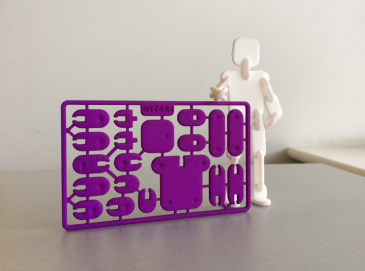 Credit Card Action Figure 3d printed