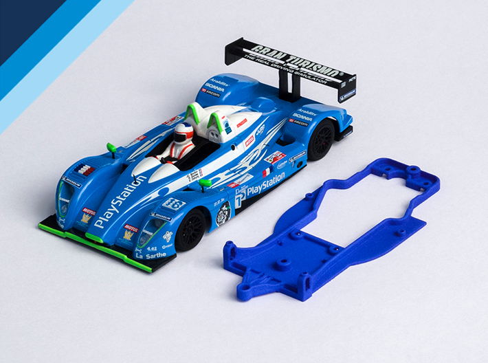 1/32 Avant Slot Pescarolo Chassis for Slot.it pod 3d printed Chassis compatible with Avant Slot Pescarolo LMP body (not included)