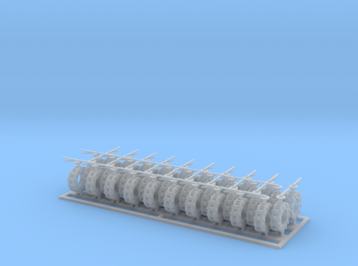 Valves 6.4-3.2mm 20x Closed 20x Open 3d printed