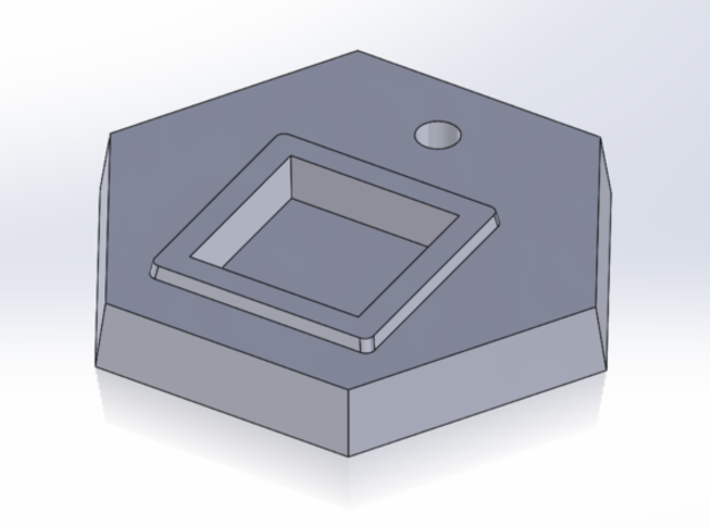 Fighter Stand Base - single-hole 3d printed