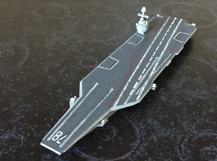 CVN-78 Gerald R. Ford, 1/1800 3d printed Pained Sample