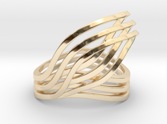 Leaves ring 3d printed