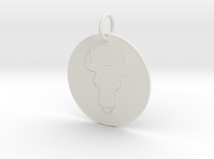Taurus Keychain 3d printed