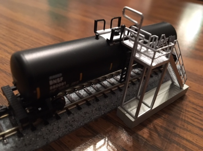 """HO Scale"" - Ethanol Fill Station Stairway 3d printed"