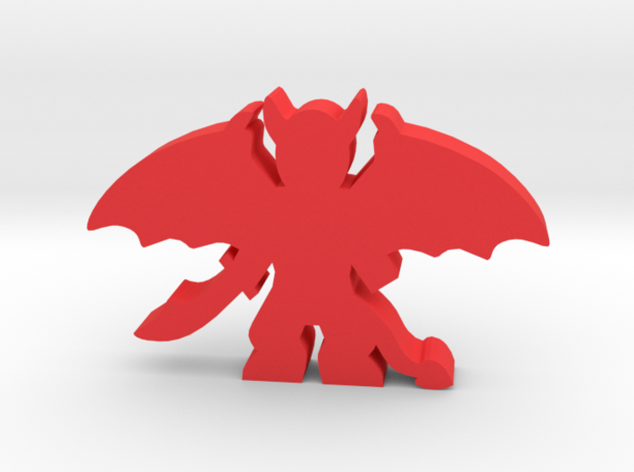 Game Piece, Demon Large, Spread Wings 3d printed