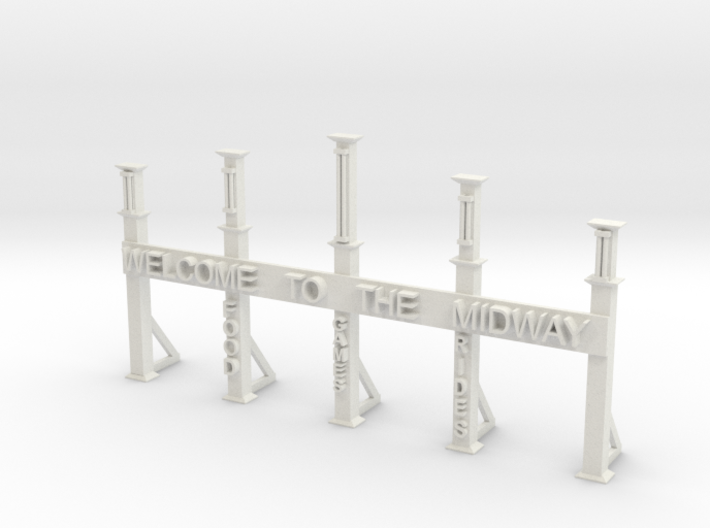 GATE WITH WELCOME TO THE MIDWAY 3d printed