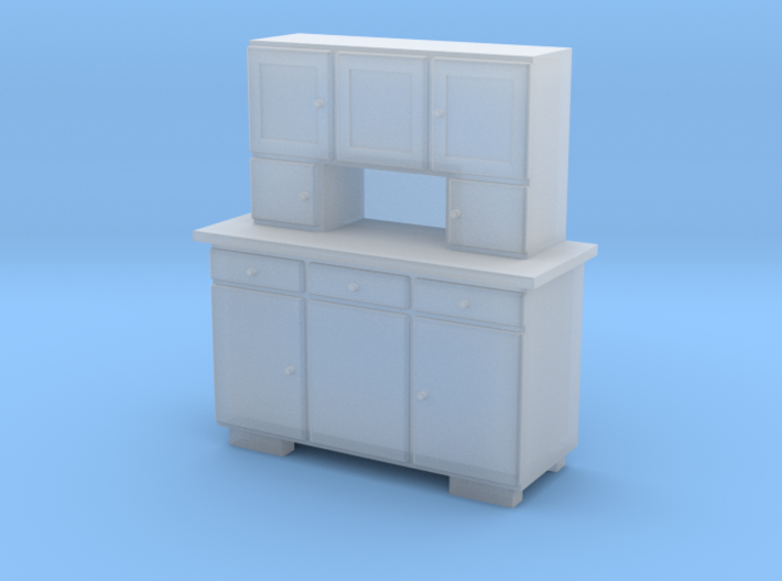 H0 Cupboard 3 Doors - 1:87 3d printed