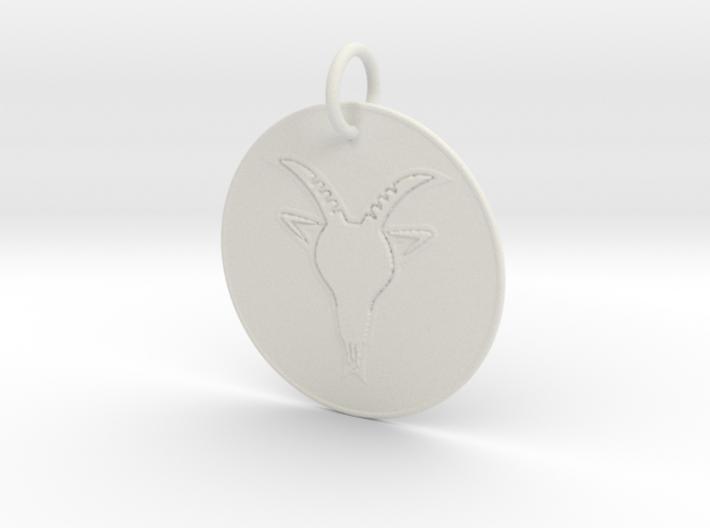 Capricorn Keychain 3d printed