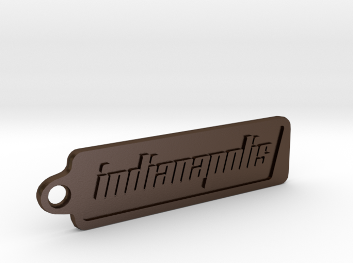 Indianapolis, Indiana Keychain 3d printed