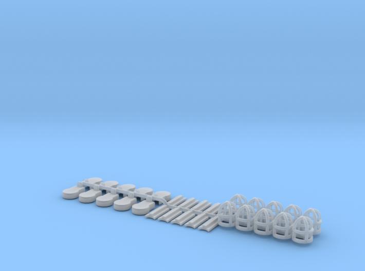 Deckslampen 1:50 - 1:33 3d printed
