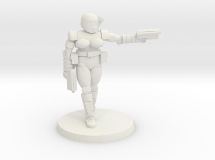 36mm Female Combat Armor 2 3d printed